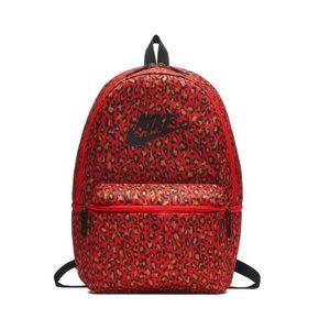 Nike Red Leopard Print Heritage Bookbag
